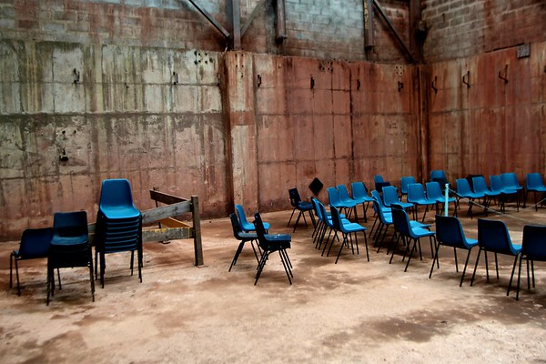Meeting room, Geevor Tin mine, Botallack, Cornwall, UK, 2011