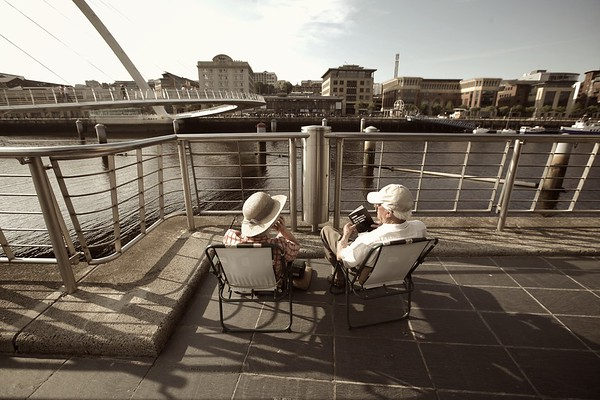 Couple of pensioners, Newcastle-upon-Tyne, UK, 2008