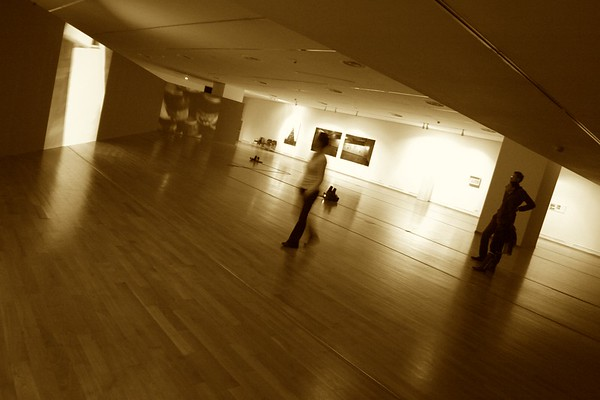 At an exhibition, Modern Art Museum, Bucharest, Romania, 2012