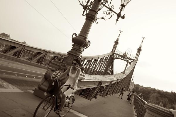 Cyclist, Budapest, Hungaria, 2011