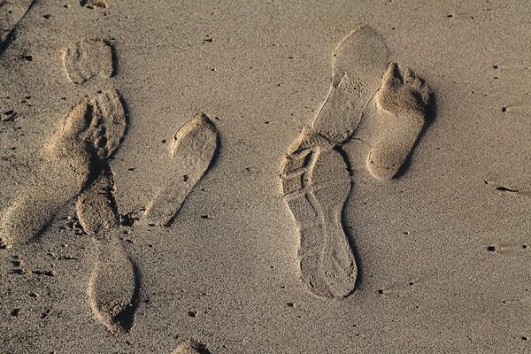 Babouche sand shoemark, Essaouira, Morroco, 2012