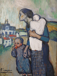 picasso.  The Mother.  1901.