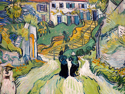 Vincent Willem van Gogh.  Stairway at Auvers.  1890.