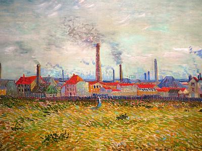 Vincent Willem van Gogh.  Factories at Clichy. 1887.