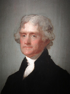 Thomas Jefferson,  by Gilbert Stuart, 1805