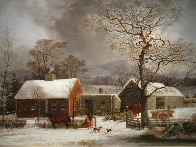 Winter Scene in New Haven, by George Henry Durrie, circa 1858