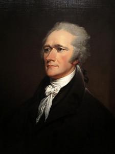 Alexander Hamilton,  by John Trumball, 1806