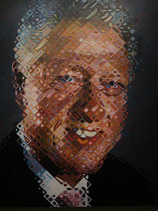 William Jefferson Clinton,  by Chuck Close, 2006