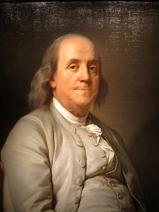 Ben Franklin,  by Joseph Duplessis, 1785