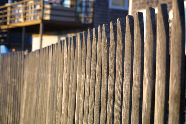 Wooden fence, Cape Cod, Massachusetts, USA, 2007