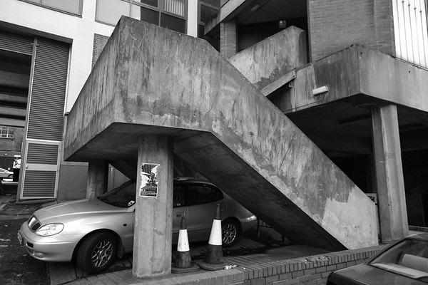 Concrete use of space, Glasgow, Scotland, UK, 2008