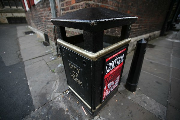 British bin, York, Yorkshire, UK, 2008
