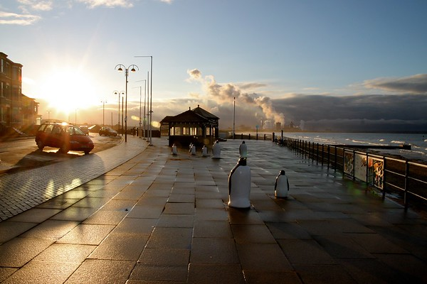 Sunset, Redcar, North Yorkshire, UK, 2010