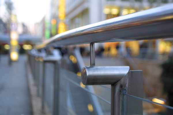 Chrome handrail, Stuttgart, Germany, 2008