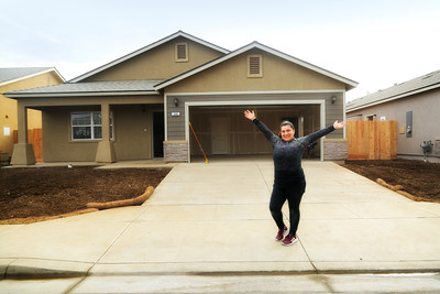 Candie Gallardo and her new home