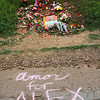 Bernal Heights Park, 3/21/15 – A memorial for Alex Nieto, killed by SFPD officers on this spot one year earlier.