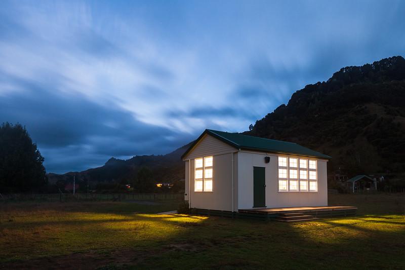 DOC old schoolhouse bunkroom, Whakahoro, Whanganui National Park