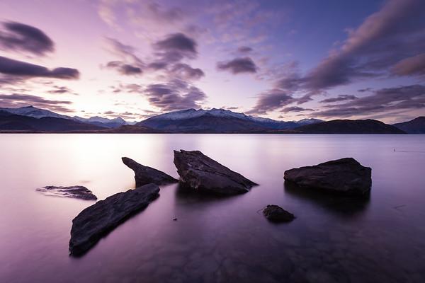 Blue hour, Lake Wanaka, Otago