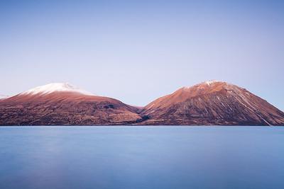 Ben Ohau Range peaks, Lake Ohau, Inland Canterbury