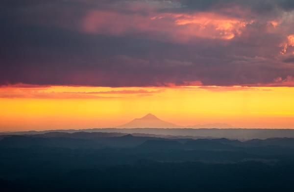 Taranaki Mount Egmont from Pureora Forest Park