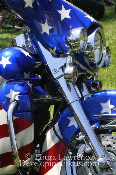 Patriotic Bike; Rolling Thunder Memorial Day Parade 2010, Washington D.C.
