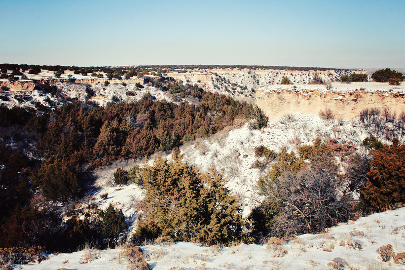 Palo Duro Canyon in Snow 2