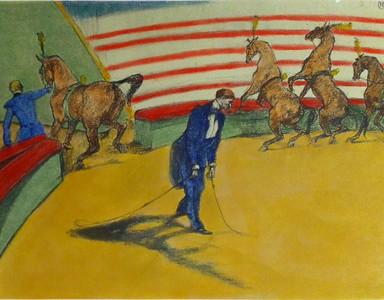 Toulouse-Lautrec colored Lithograph