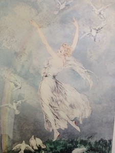 a faded Louis Icart print