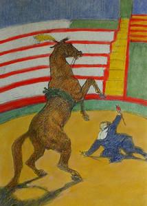colored Toulouse-Lautrec lithograph