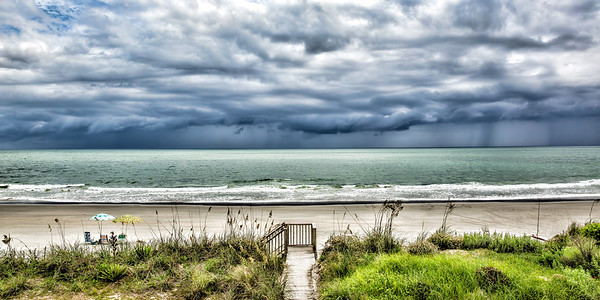 Stormy Beach Scene