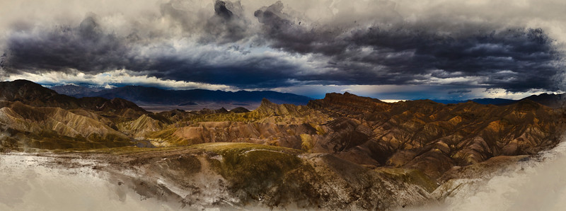 Stormy Zabriskie Point, Death Valley, CA