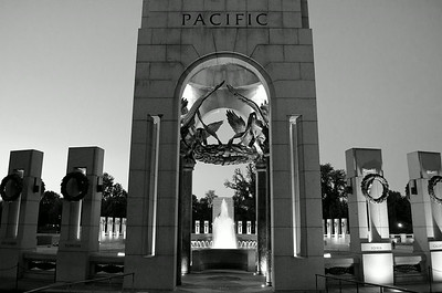 WWII Memorial - Pacific B&W