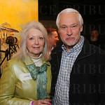 Artist Elaine Wood and Bruce Wood.