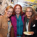 Artist Anne Borders, Kelli Torpey and artist Clare Hirn.