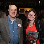 Artist Robbie Mueller and Chelsey Cornett.