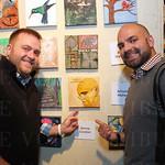 Allen Hatchel and Jason McKee pointed to their favorite piece of art.
