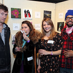 Artist Adam Horton, Maya Griffin, Molly Huffman and friend Micah Cargin.