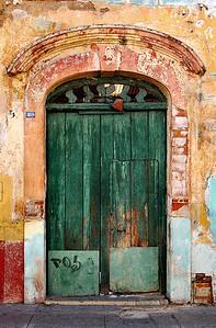 green orange door B
