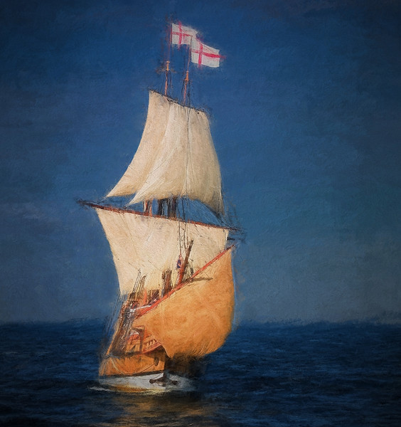"""The original image was recorded several years ago as I was on the """"chase""""  boat from the Plimoth Plantation."""