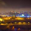 Night cityscape of Jerusalem