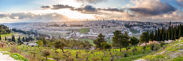 Panoramic view of Jerusalem in winter