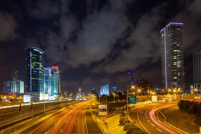 Urban night view