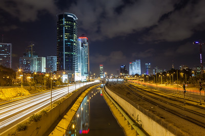 Urban night view