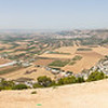 Jezreel Valley's Aerial Pano Landscape shot from Mount Tavor in Lower Galilee, Israel.
