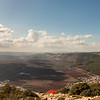 Jezreel Valley's Aerial Landscape shot from Mount Tavor in Lower Galilee, Israel.
