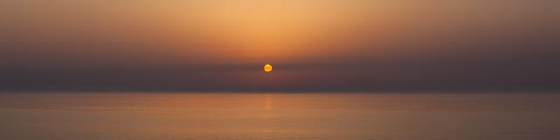 Golden Sunset over Mediterranean sea