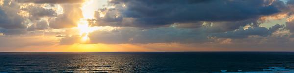 Dramatic Sunset Panoramic Seascape