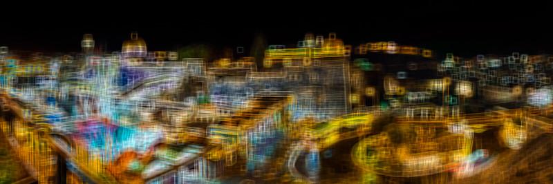 Jerusalem of Gold at Night illustration. Ancient city at nigt background.