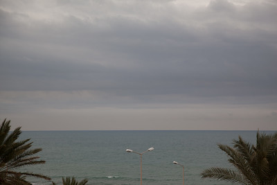 Winter on Mediterranean sea