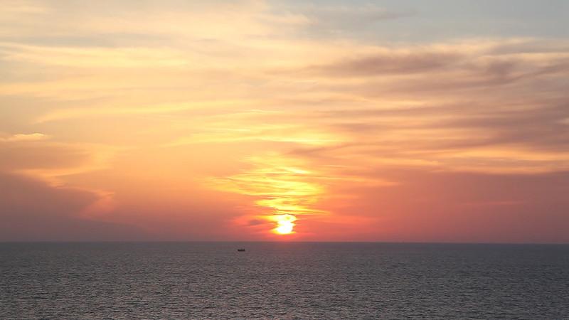 Sunset over Mediterranean